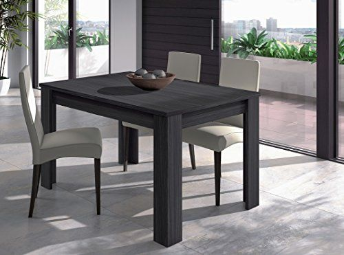 Mesa de comedor extensible de 140 a 190cm, color Gris Ceniza