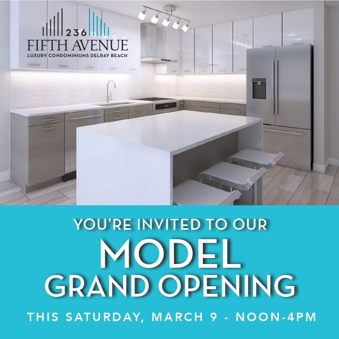 Grand Reveal Model Grand Opening Real Estate Boynton Beach