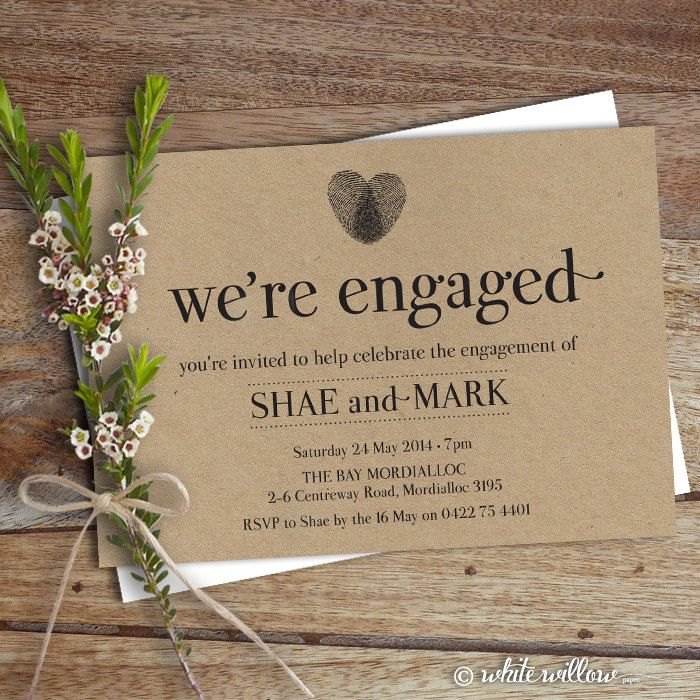 engagement party invitation engagement party by whitewillowpaper