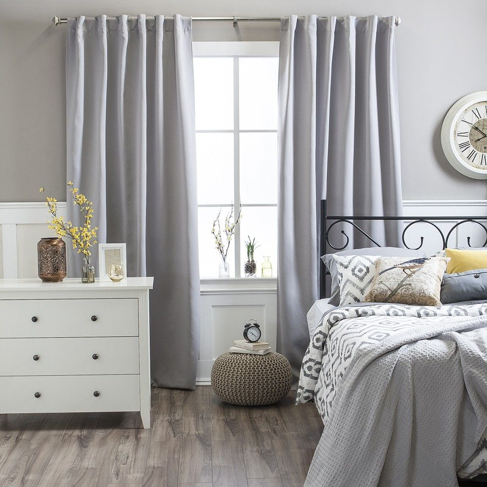 BOSTON Jacquard Light Blocking Curtain In Light Grey Colour