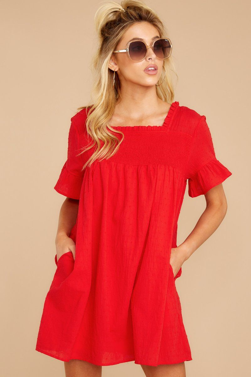 On My Way To You Red Dress Red Dress Short Sleeve Shift Dress Short Shift Dress [ 1200 x 800 Pixel ]