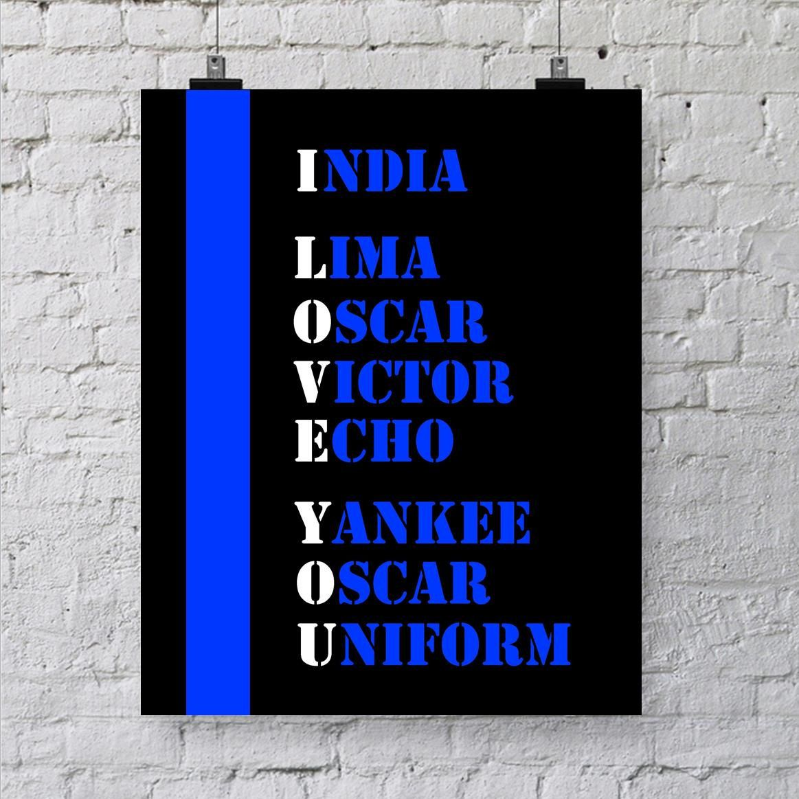 Last Minute Police Officer Gift - Police Academy Graduation Gift - Thin Blue Line Printable - Law Enforcement - Police Officer's Wife - LEO