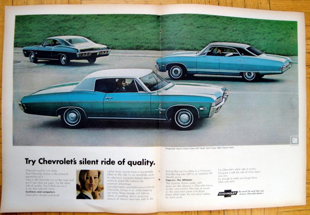 1968 Chevrolet Impala Sportcustom Coupes Original 2 Page 13 5 Etsy 1968 Chevy Impala Chevy Impala Chevrolet Impala