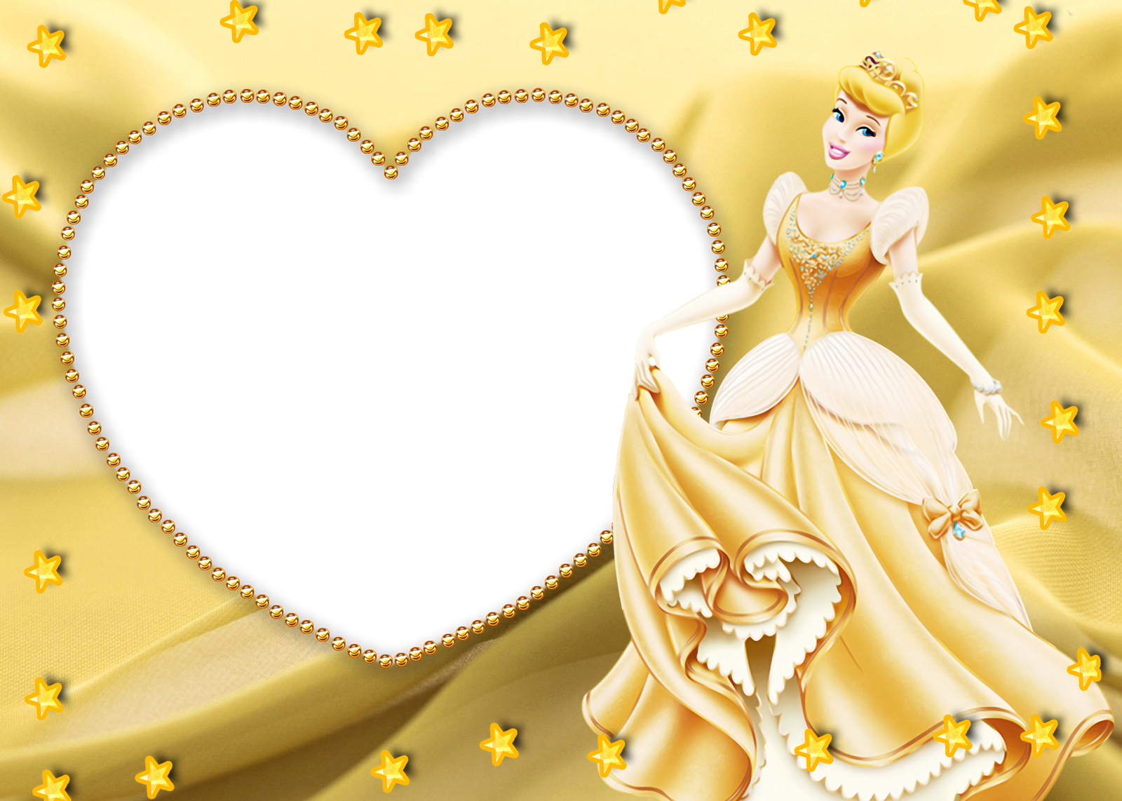 Princess Kids Yellow Transparent Frame | Disney | Pinterest ...