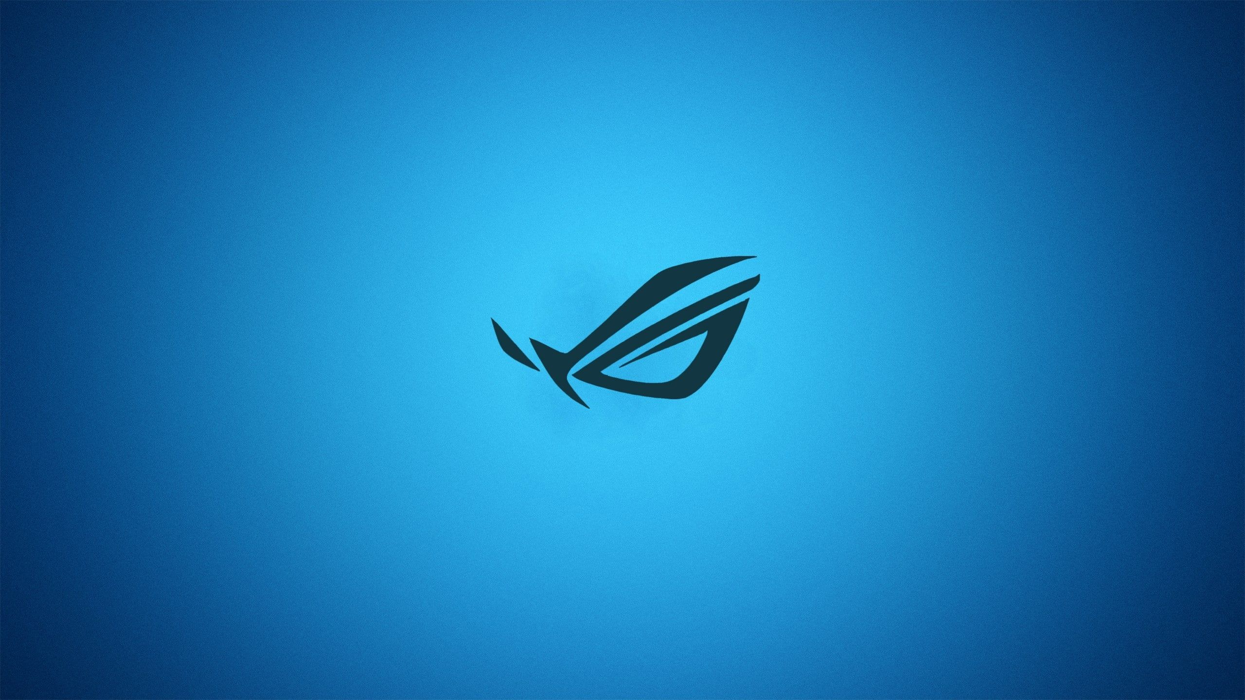 Blue Minimalistic Asus Gradient Logos Republic Of Gamers 2560x1440 Technology Asus Hd Art Blue Minimalist Gaming Wallpapers Asus High Resolution Wallpapers
