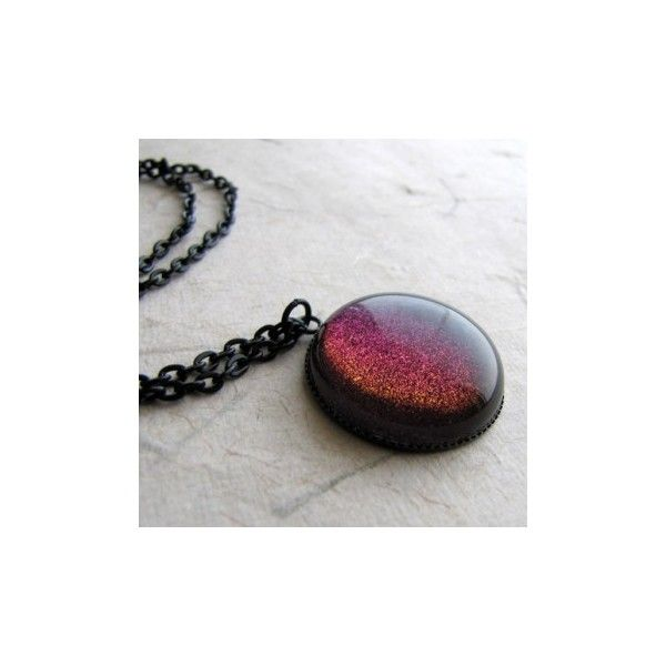 Rainbow Galaxy Necklace ❤ liked on Polyvore