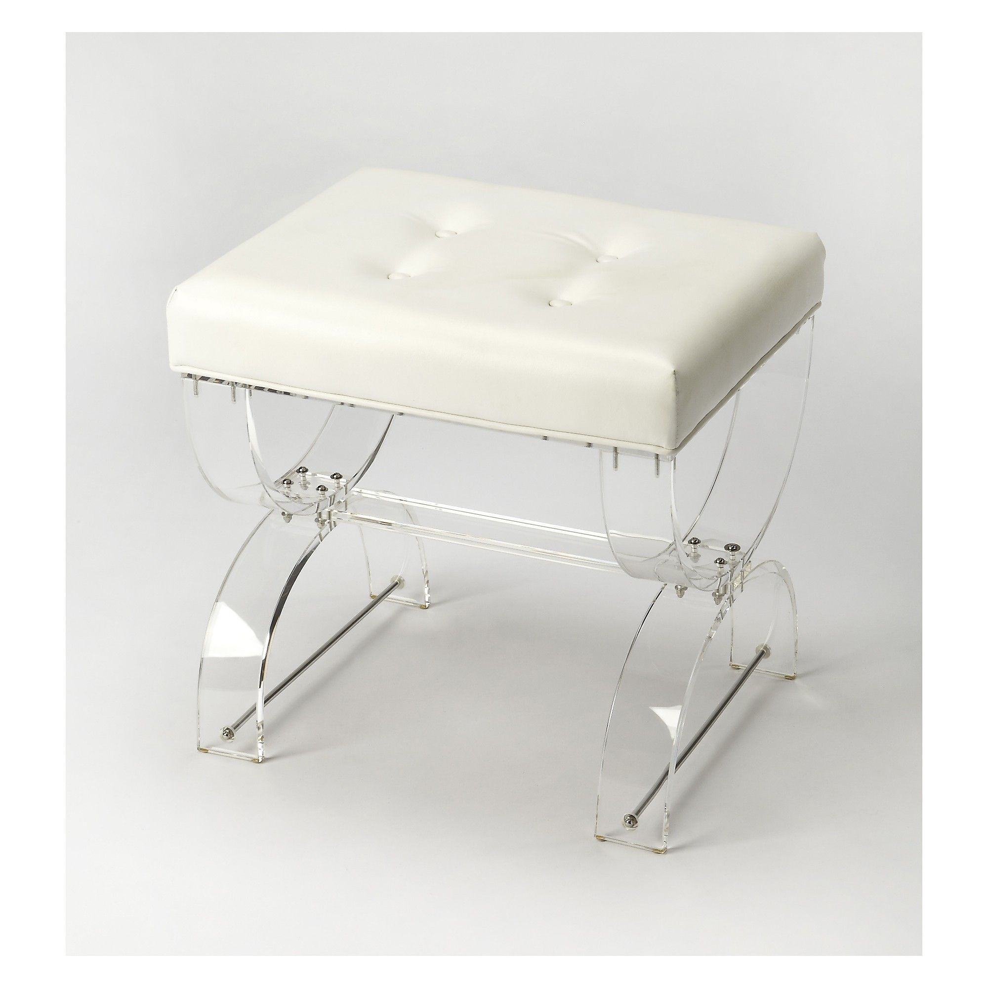 Butler Specialty Morena Vanity Stool Clear Acrylic