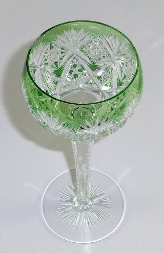 Roman Weinglas crystal glass overlapping light green stripe Saint Louis image