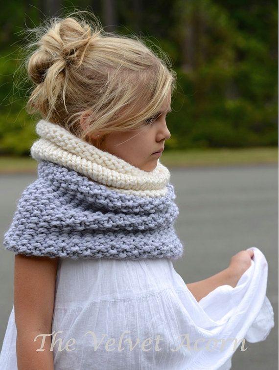 Knitting Pattern The Windyn Cowl Toddler Child Por Thevelvetacorn