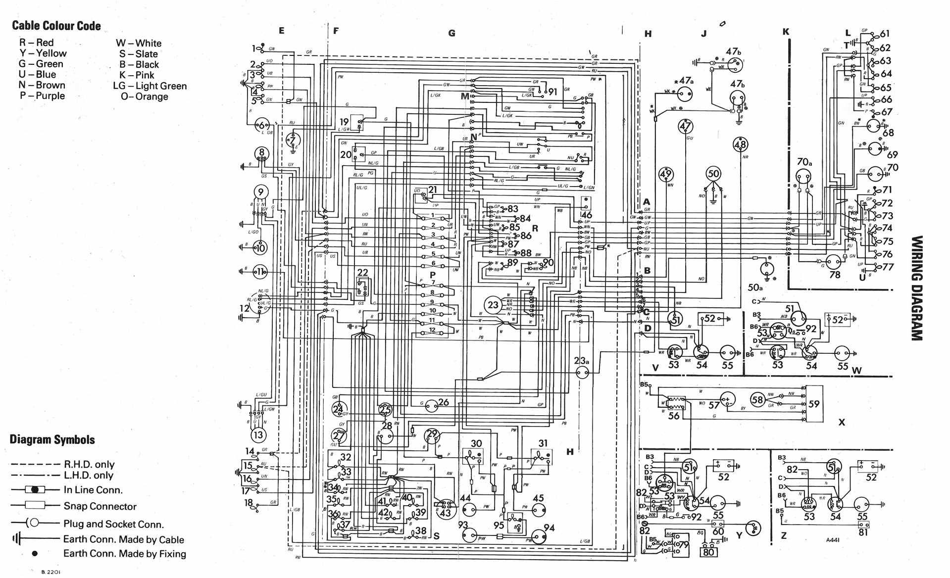 volkswagen 1600 ledningsdiagram