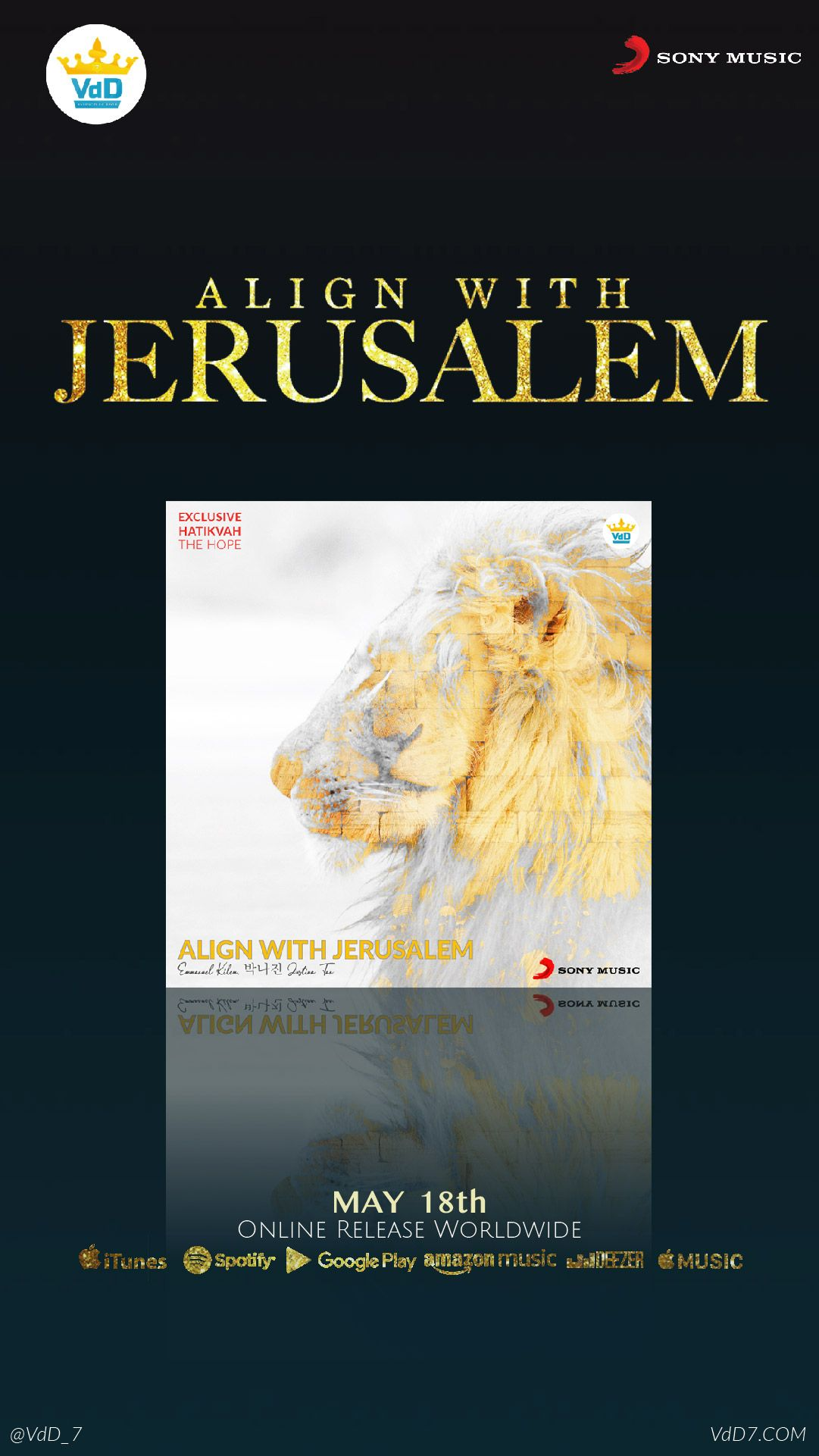 "Align With Jerusalem"" Album is now AVAILABLE now in Spotify"