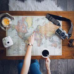 Coge un mapa, busca un lugar, un sueño y cúmplelo. A viajar...