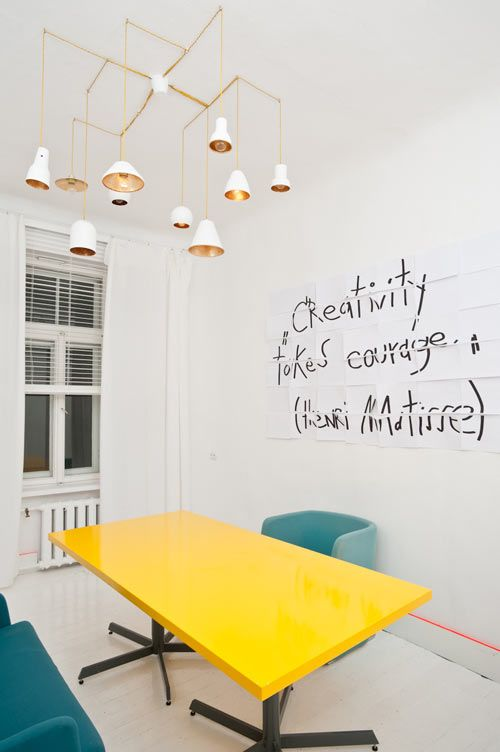 creative office design ideas. CREATIVITY TAKES COURAGE. Latvian Interior And Product Designer Anna Butele Created A Very Creative Office Space For Her Design In Riga, Ideas