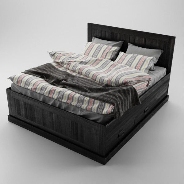 Stauraumbett 140x200 ikea  IKEA Fjell Bed Jon and I bought this for our bedroom in black ...