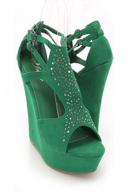 2e868410ee0 Green Wedge Shoes