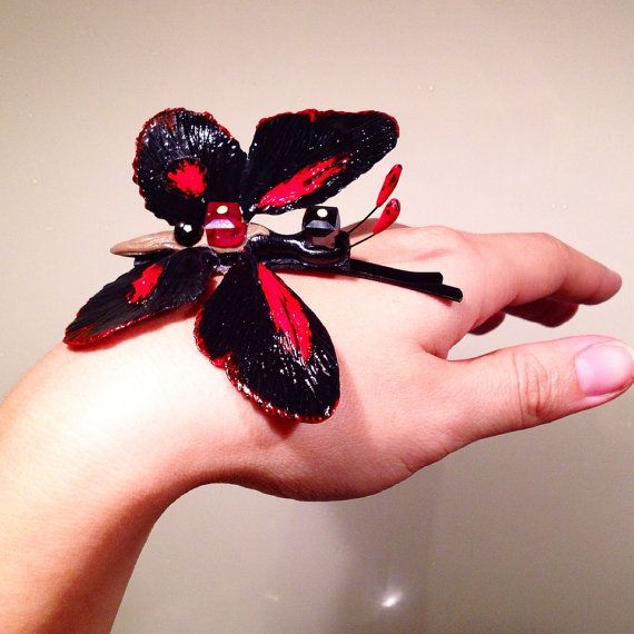 Handmade butterfly hair pin  on Etsy, $15.00