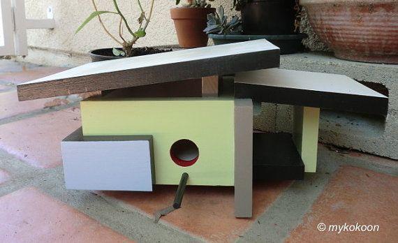Mid Century Modern Bird House Mod Ranch Design Home Decor