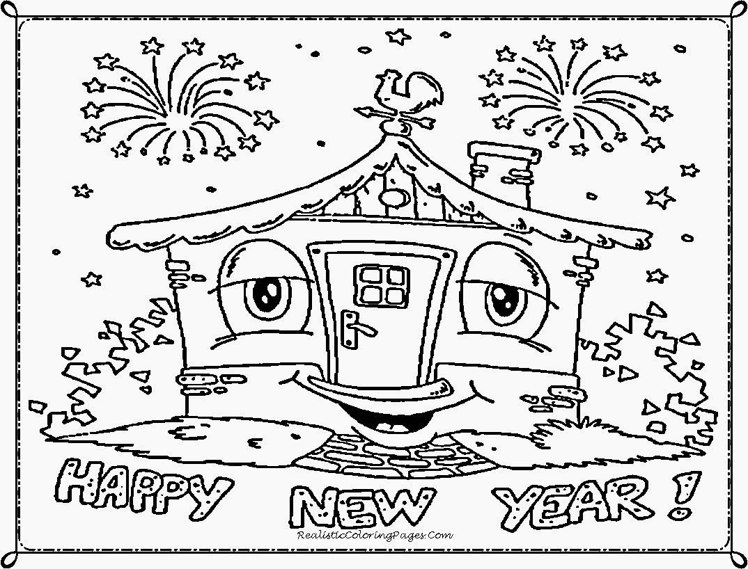 Best Of New Year Coloring Pages For Preschoolers