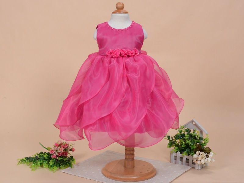 Robe Petite Princesse Sans Manche Organza
