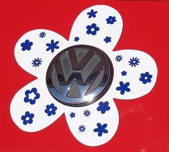 VW Beetle Flower Magnetic Decal You Choose Color Vw Beetles - Magnetic car decals flowers