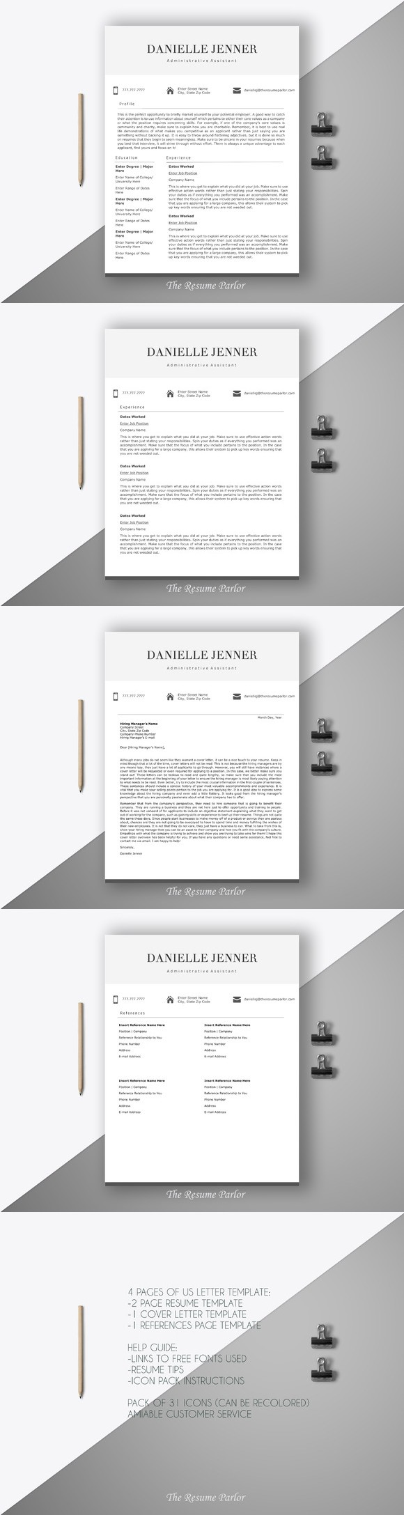 Resume Template  Page Secretary Cv Printables