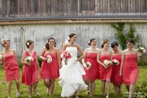 Davids Bridal Bridesmaid Dresses In Guava