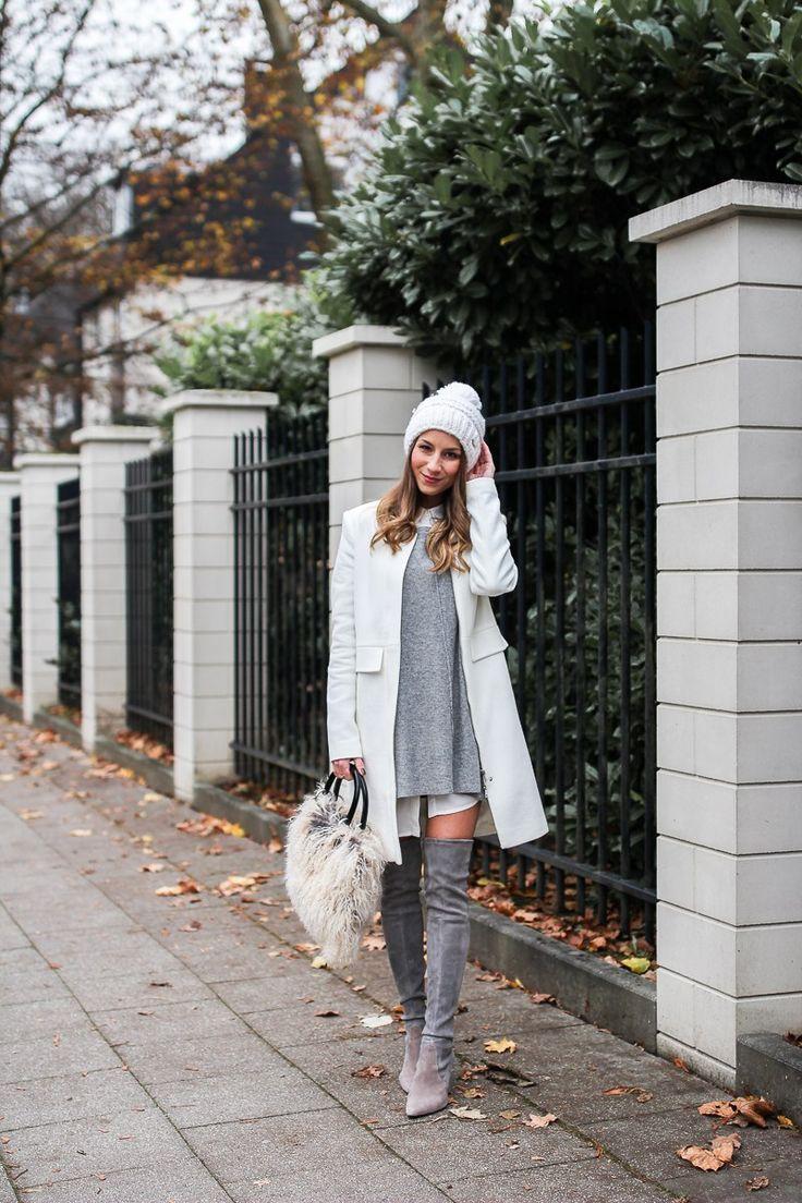 Hello Winter :: Mit Pudelmütze & Overknees   Véjà Du Modeblog aus Deutschland / Fashion Blog from Germany
