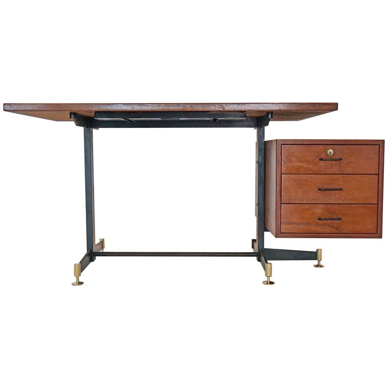 Osvaldo Borsani Desk   From a unique collection of antique and modern desks at https://www.1stdibs.com/furniture/storage-case-pieces/desks/