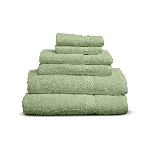 Cheer Collection 6 Piece Luxurious Towel Set Solid Sage Cheer Collection Luxury Towels Towel Set Towel