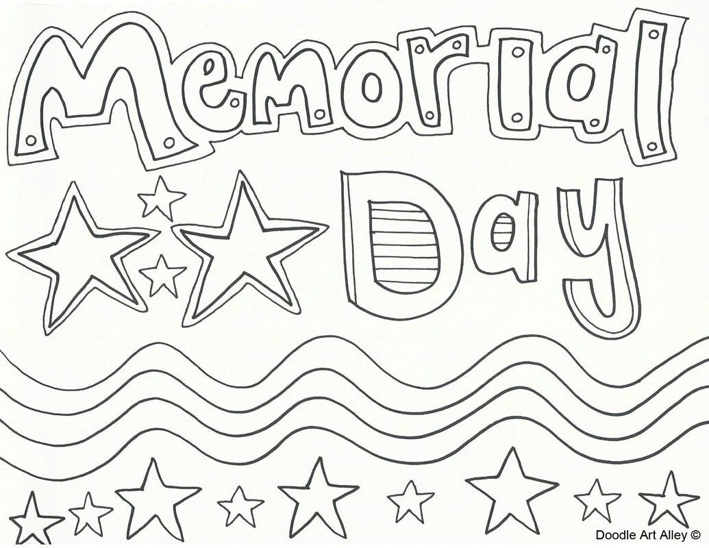 Pin By Pamela Mchatten On July 4 Memorial Day Coloring Pages