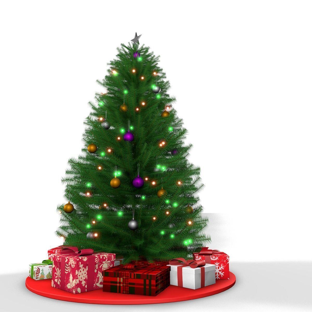Christmas Tree 3d Model In 2020 Christmas Tree 3d Model Christmas Tree Christmas Tree Decorations