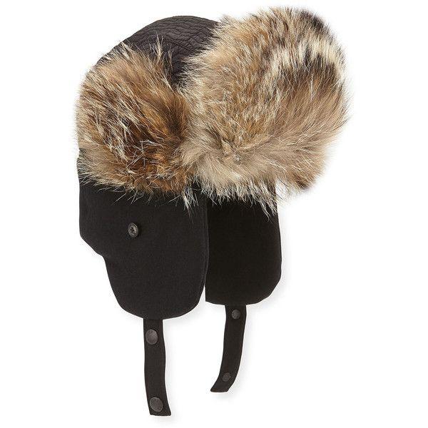 Moncler Fur Trim Trapper Hat Trapper Hats Mens Accessories Hats Fur Trim