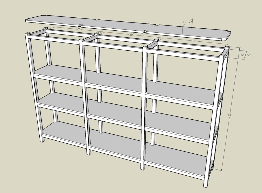 Basement Shelf Plans Jan 6 2014 Building A Wooden Storage Shelf In The Basement  Storage Shelf
