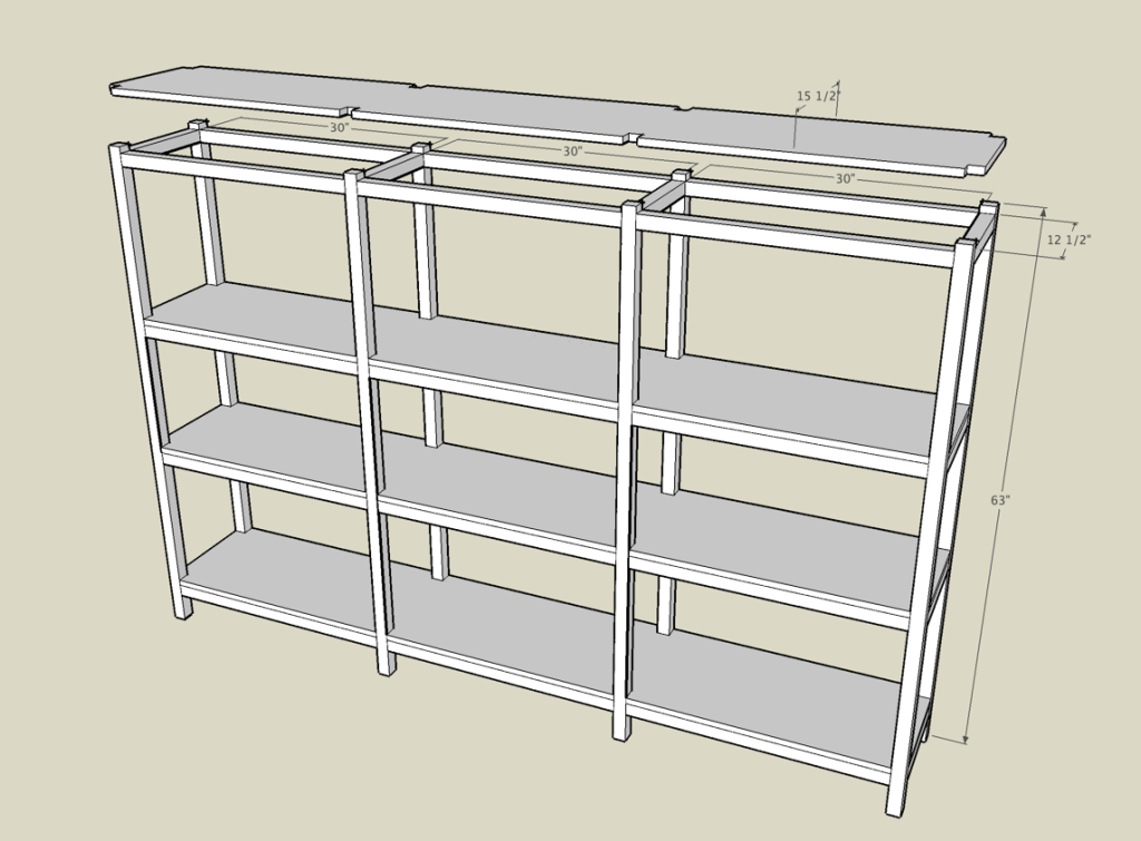 basement shelf plans jan 6 2014 building a wooden storage shelf in rh pinterest com