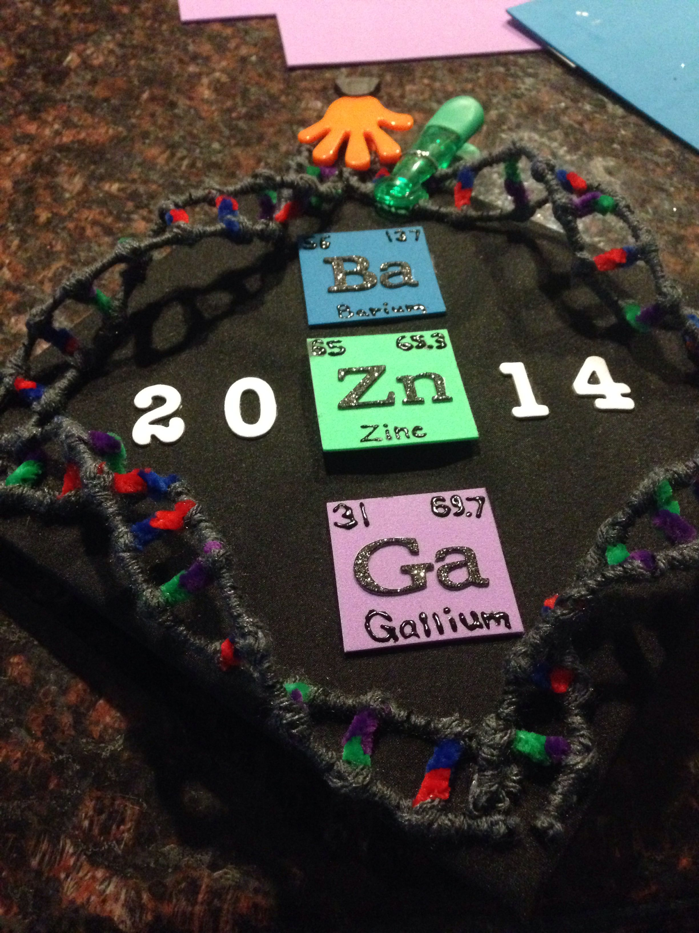 My Biology Major Chemistry Minor Graduation Cap Bazinga