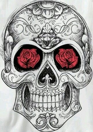 Pin By Brenda Ramos On Skull Y Rose Sugar Skull Tattoos Skull Tattoo Design Skull Tattoos