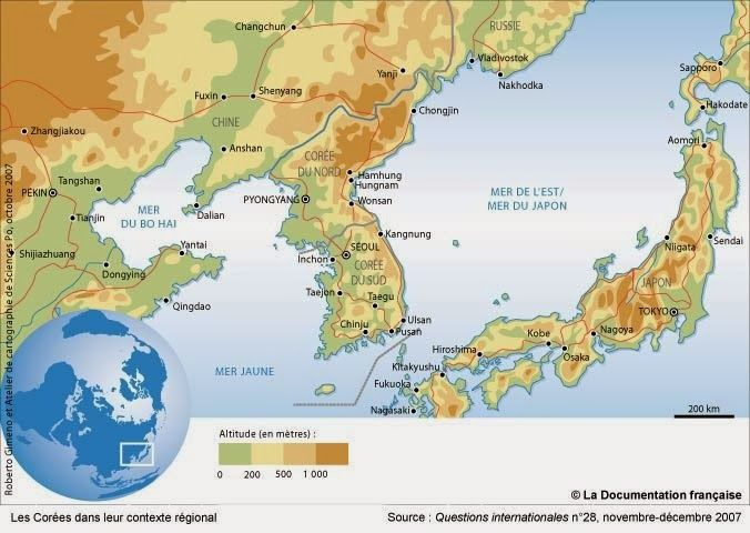 Carte-coree-du-sud-environs.jpg 676×480 Pixel
