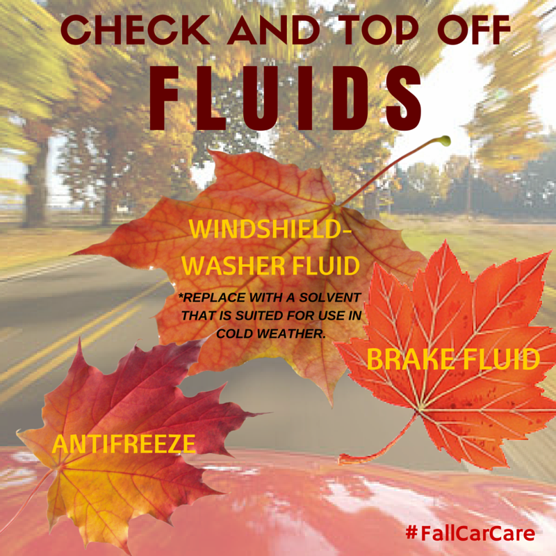 Check Top Off Fluids Fallcarcare Carcare Automotive Maintenance Tips Fall Autumn Cars