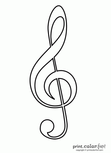 Http Printcolorfun Com Wp Content Uploads Music Treble Clef 363x500 Png Treble Clef Treble Clef Art Coloring Pages
