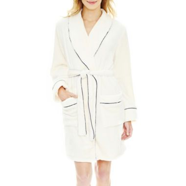 Liz Claiborne® Long-Sleeve Plush Wrap Robe found at  JCPenney  b7e2e17f1