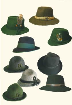 ab76be26f German hunting hats. | Traditional German Clothing | Hunting hat ...