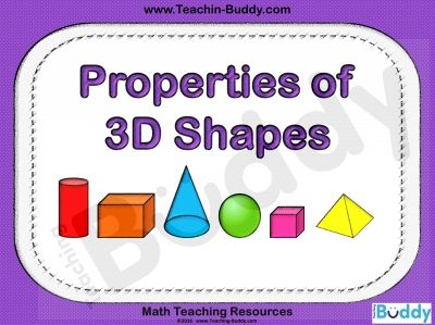 Properties of 3D Shapes teaching resource - PowerPoint and