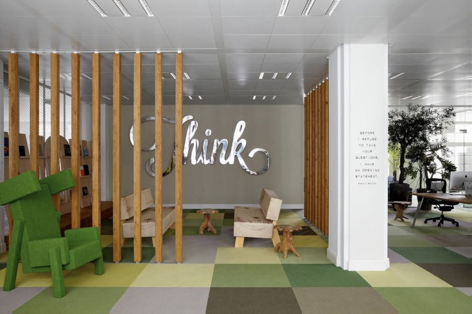 Office Workspace Creative Design And Decoration Of Jwt