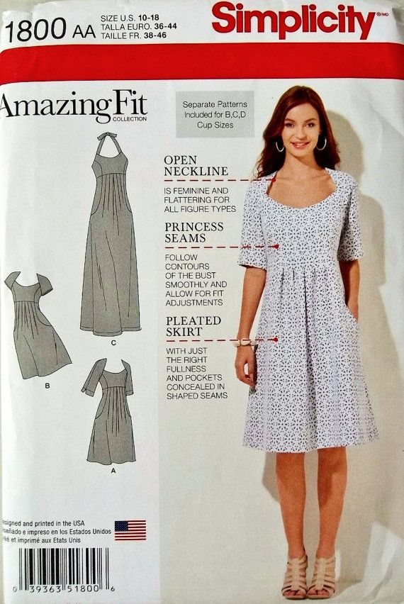 Misses Dress Pattern Amazing Fit Dress Pattern Halter by blue510 ...