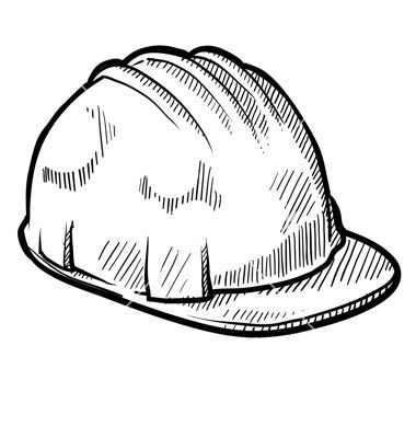 Doodle Construction Hard Hat Vector 1113153 By Lhfgraphics On Vectorstock Hard Hats Construction Hat Skull Silhouette