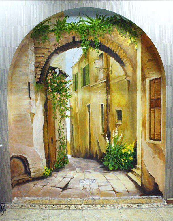 Merveilleux Kitchen/ Diningroom. Custom Hand Painted Wall Murals By Eelna