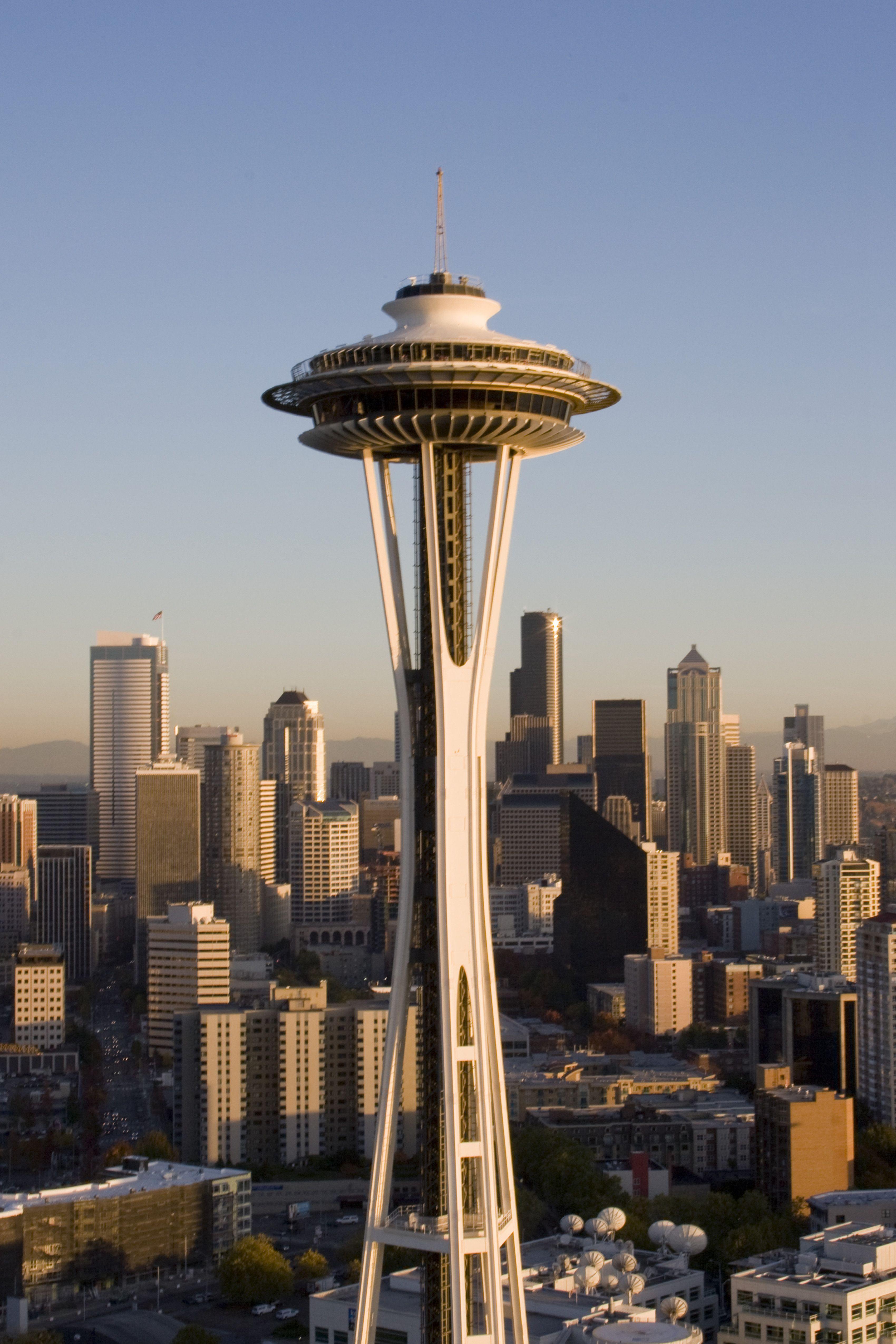 Washington Space Needle Iconic Buildings Washington