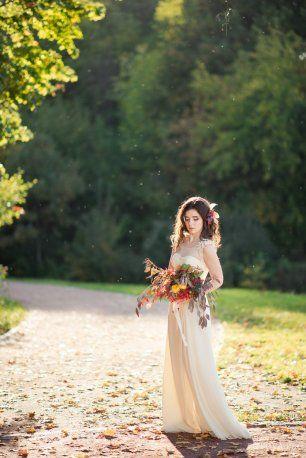 Осенний образ невесты в стиле fine art | Невеста, Свадьба ...
