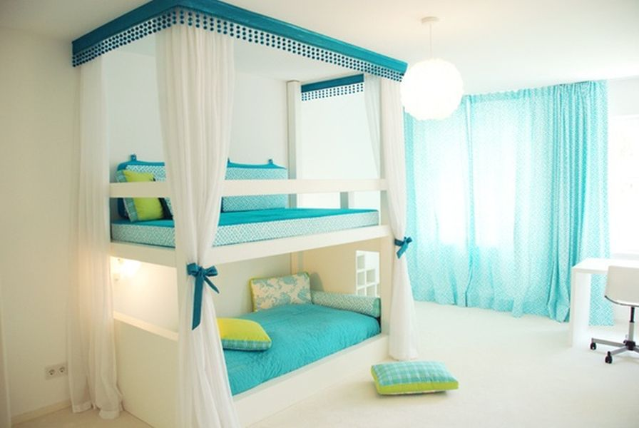 Cool Blue And Green Bedroom