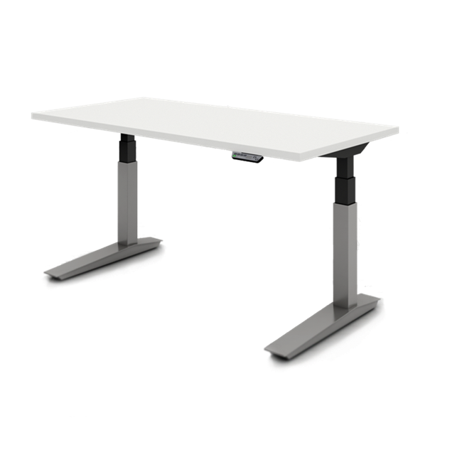Height Adjustable Detail View Haworth Planes Table